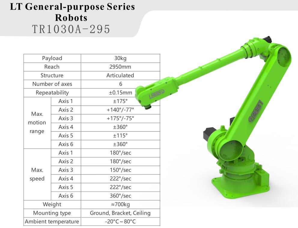 30kg Load 6 Axis Industrial Robot